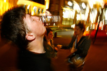 Heavy drinking and obscene behaviour in Queen St prompted Mayor Len Brown to call for action. Photo / Bradley Ambrose