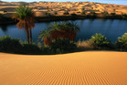 The Ubari lakes in the heart of the Sahara. Photo / Arkno Tours