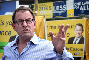 John Banks looks ahead after police found no grounds for prosecution following a complaint about his mayoral campaign. Picture / Jodi Rose