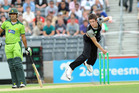 Black Caps coach Mike Hesson insists Adam Milne also has some dangerous slower deliveries up his sleeve. Photo / NZPA
