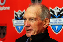 Knights coach Wayne Bennett. Photo / Simon Watts 