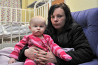 Kailah with mum Taryn after surgery. Photo / Otago Daily Times