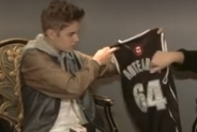 Justin Bieber was given the singlet while on tour last month with girlfriend Selena Gomez. Photo / ZM