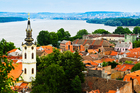 The pretty Belgrade suburb of Zemun is home to many riverside restaurants and pontoons for swimming. Photo / Thinkstock
