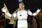 Eric Idle performs at the Closing Ceremony of the Olympics in London. Photo / AP