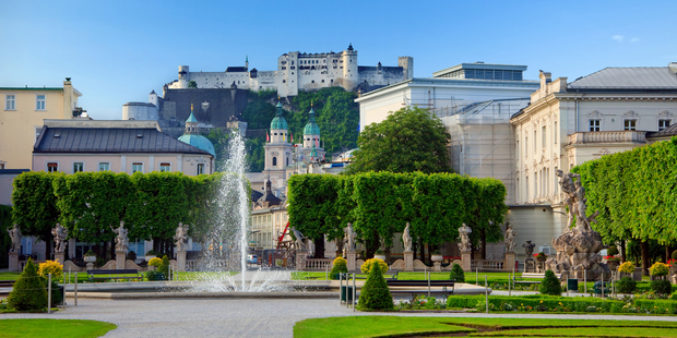 Salzburg's sublimely manicured Mirabell Gardens are the perfect spot to take a break from sightseeing. Photo / Thinkstock