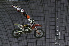Levi Sherwood competes during the Red Bull X-Fighters round in Munich. Photo / Supplied