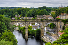 An ancient but still working railway viaduct across the River Nidd is the central focal point of the quaint North Yorkshire market town of Knaresborough. Photo / Thinkstock