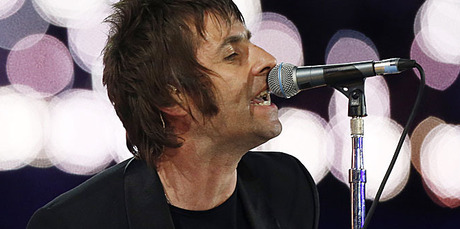 Liam Gallagher performs with Beady Eye at the Olympics Closing Ceremony.  Photo / AP