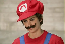 Penelope Cruz dresses up as Mario from the Super Mario Brothers computer game in a new ad. Photo / YouTube