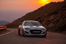 Rhys Millen in his winning Hyundai Genesis at Pikes Peak, Colorado. Photo / Supplied