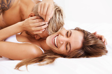 Semen contains ingredients that make women happy.