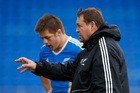Richie McCaw and coach Steve Hansen. Photo / Getty Images