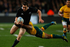 Ben Smith of the All Blacks in action last night. Photo / Getty Images