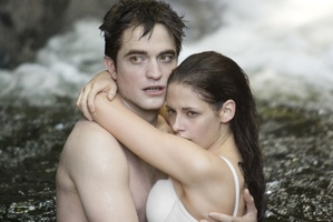 Kristen Stewart and Robert Pattinson in a Twilight Saga promotional poster. Photo / Supplied