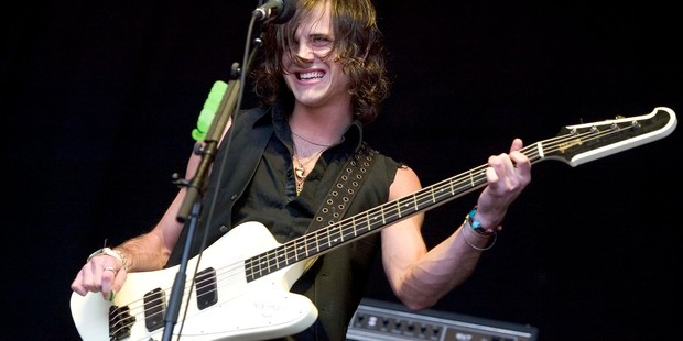 Kings of Leon bass player Jared Followill performs at the Big Day Out in 2006. Photo / Richard Robinson