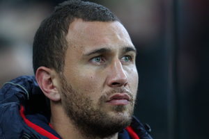 Quade Cooper's unpredictability is why Robbie Deans has recalled him for Saturday's Bledisloe Cup test at Eden Park. Photo / Getty Images.
