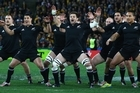 SYDNEY, AUSTRALIA - AUGUST 18:  The All Blacks perform the haka  during The Rugby Championship Bledisloe Cup match between Australia and New Zealand at ANZ Stadium on August 18, 2012 in Sydney, Australia.  (Photo by Mark Kolbe/Getty Images)