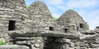Three of the monks' distinctive cells on the island of Great Skellig. Photo / Jill Worrall