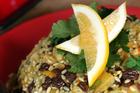 Honeyed brown rice pilaf. Photo / Doug Sherring
