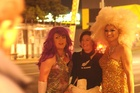 Drag queens liven up the K Rd section of the fan trail. Photo / Jason Dorday