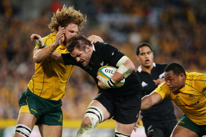 The Wallabies were within a try of winning late in last weekend's first test but Richie McCaw and the All Blacks never gave them a sniff of victory. Photo / Getty Images
