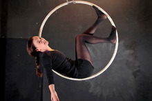 Aroha Wikohika transforms the aerial hoop into a thing of beauty. Photo / Michael Craig