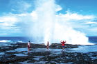 The Alofa'aga Taga blowholes on Savai'i are an impressive feat of nature. Photo / Samoa Tourism Authority