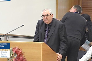 John Dragicevich was the subject of a complaint from four managers. Photo / Franklin Live