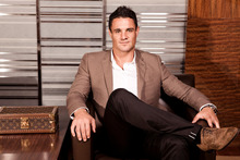 Having his own shoes made-to-order by Louis Vuitton was a fun process for Dan Carter. Photo / Supplied