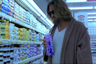 Pyjamas were preferred shopping attire for Jeff Bridges as The Dude in 'The Big Lebowski'. Photo / Supplied