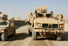 American troops are using the Mine Resistant Ambush Protected vehicle. Photo / AP
