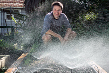Sprinklers are versatile for a growing vegetable patch. Photo / Natalie Slade