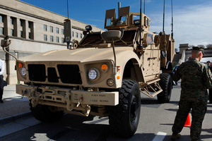 The American mine-resistant all-terrain vehicle which Kiwi forces tried to obtain in Afghanistan. Photo / AP