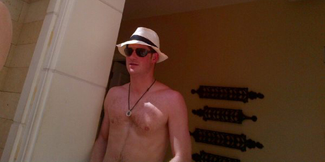 Prince Harry reportedly pictured in Las Vegas. Photo / Twitter