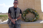 Garrie Hutchinson at the Tobruk War Cemetery in Libya, where 38 New Zealanders are buried. Photo / Supplied
