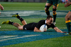 All Black Israel Dagg scores a try. Photo / Richard Robinson