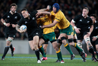 Sonny Bill Williams in action against Australia last night. Photo /  Richard Robinson