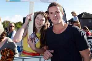 Mikayla Lowry met her idol  Ben Crawford. Photo /  Doug Sherring