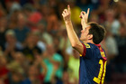 Lionel Messi scored twice to help Barcelona to a 5-1 victory yesterday. Photo / AP