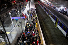 The train service on the opening night of the Rugby World Cup left many commuters disgruntled. Photo / NZ Herald