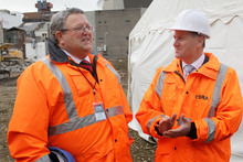 Gerry Brownlee (here visiting the recovery zone with Prime Minister John Key) is clear the Christchurch investment proposition is not just about the earthquake rebuild.