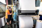 Norske Skog Tasman says declining demand for newsprint means it will halve its capacity. Photo / Stuart Munro
