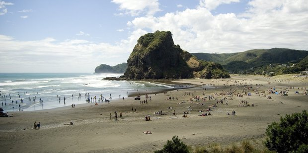 Chris Deacon has rescued many people at wild Piha Beach. Photo / Jason Dorday