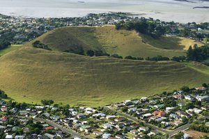 Mangere Mountain in Mangere Bridge. Photo / Martin Sykes