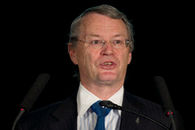 Keith Turner, chairman of the board of directors for Fisher &amp; Paykel, speaking at the annual shareholders meeting this week. Photo / Natalie Slade 