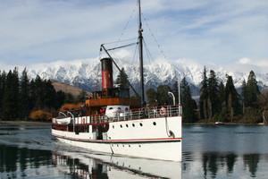 Grand old steamboat TSS Earnslaw on spectacular Lake Wakatipu. Photo / Supplied