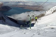 Searchers are hunting for two missing skiers from the Lake Ohau Snow Fields area. Photo / Supplied