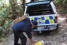 Police carried out a painstaking scene examination of Totara North's Wairakau Stream Track. Photo / Northern Advocate