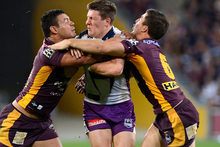 Brisbane could drop out of the top eight if they lose to Manly. Photo / Getty Images 